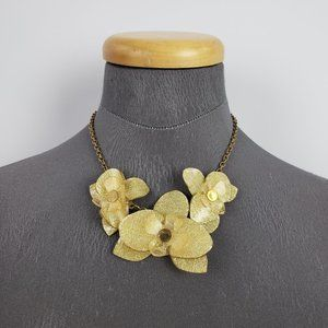Color By Amber Bronze & Gold Flower Necklace